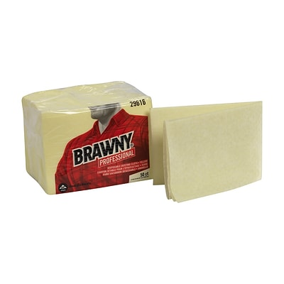 GP Brawny® Professional Disposable Dusting Cloth, 17 x 24, Yellow, 50/PK