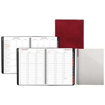 2019 Day-Timer® Fashion Weekly/Monthly Appointment Book/Planner, 12 Months, January Start, 8 x 11, Red (33353-1901)