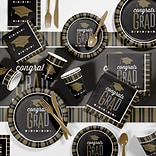 Creative Converting Silver and Gold Glitz Graduation Party Supplies Kit (DTC2896E2A)