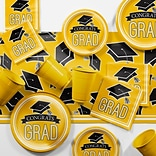 Creative Converting Graduation School Spirit Yellow Party Supplies Kit (DTCSBYLW2A)