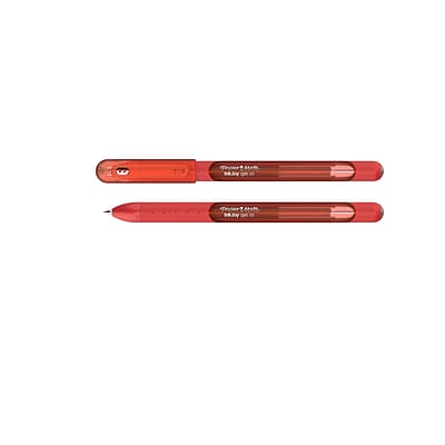 Paper Mate InkJoy Gel Pens, Fine Point (0.5mm), Red, Capped, 12 Count