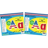 Barker Creek 4 Letter Pop-Out 2-Pack, USA, 510 Characters/Set (BC3632)