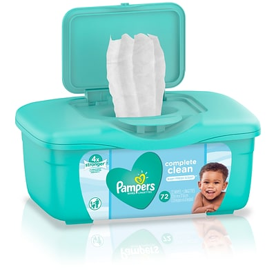 Pampers Clean Scented Baby Wipes, 72/Count