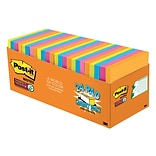 Post-it® Super Sticky Notes, 3 x 3 Rio De Janeiro Collection, 70 Sheets/Pad, 24 Pads/Cabinet Pack