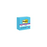 Post-it® Super Sticky Notes, 3x 3, Electric Blue, 5 Pads/Pack (654-5SSBE)