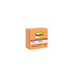 Post-it® Super Sticky Notes, 3x 3, Neon Orange, 5 Pads/Pack (654-5SSNO)