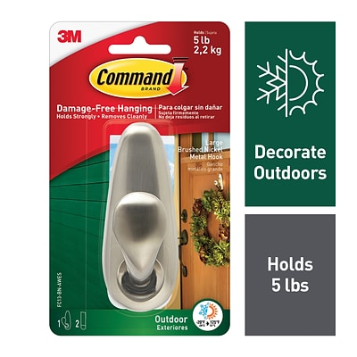 Command™ Outdoor Forever Classic Large Metal Hook (FC13-BN-AWES)