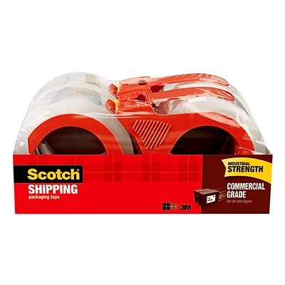 Scotch® Heavy Duty Shipping Packing Tape, 1.88W x 54.6 Yards, Clear, 4 Rolls  (3750-4RD)