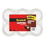 Scotch® Commercial Grade Packing Tape, 1.88 x 54.6 yds., Clear, 6 Rolls (3750-6)
