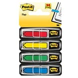 Post-it® Assorted Arrow Flags with Pop-Up Dispenser, 1/2 Wide, Assorted Colors, 96 Flags/Pack (684A