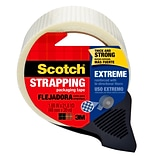 Scotch® Extreme Shipping Strapping Tape with Dispenser, 1.88 x 21.8 yds., Translucent (8959-RD)