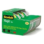 Scotch® Magic™ Tape with Built-in Refillable Dispenser, 3/4 x 8.33 yds., 3 Rolls (3105)