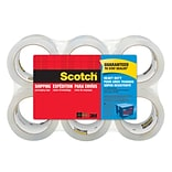 Scotch® Heavy-Duty Shipping Packing Tape, Clear, 1.88 x 54.6 Yds., 6 Rolls/Pack
