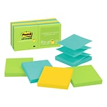 Post-it® Pop-up Notes, 3 x 3 Jaipur Collection, 100 Sheets/Pad, 12 Pads/Pack (R330-12AU)