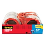 Scotch® Heavy Duty Shipping Packing Tape, 1.88 x 54.6 yds, Clear, 4/Pack
