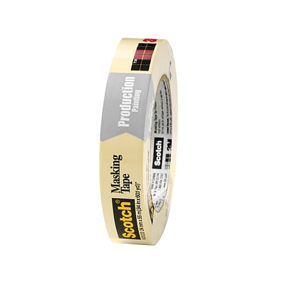 Scotch® Commercial-Grade Masking Tape for Production Painting, .94W x 60 Yds