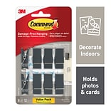 Command™ Spring Clips, Slate, 8 Clips/Pack (17089S-8ES)