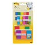 Post-it® Flags Combo Pack, .47 Wide and .94 Wide, Assorted Colors, 320 Flags/Pack (683-XL1)