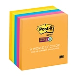 Post-it® Super Sticky Notes, 3 x 3, Rio de Janeiro Collection, 5 Pads/Pack (654-5SSUC)