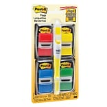 Post-it® Flags, 1 Wide, Assorted Colors, 200/Pack (680-RYBGVA)