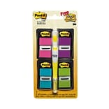 Post-it® Assorted Flag Bonus Pack w/ Flag + Highlighter, 1 Wide, Assorted Colors (680PPBGVA)