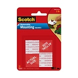 Scotch® Removable Mounting Squares, 1 x 1, 16/Pack