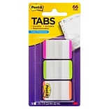 Post-it® Durable Tabs, 1 Wide, Assorted Colors, 66 Tabs/Pack (686LPGO)