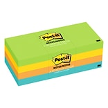 Post-it® Notes, 1 1/2 x 2 Jaipur Collection, 100 Sheets/Pad, 12 Pads/Pack (653-AU)