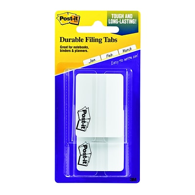 Post-it® 2 White Durable Tabs, 50 Tabs/Pack