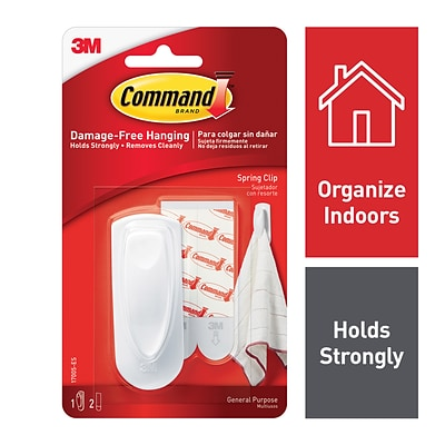 Command™ Spring Clip, White, 1/Pack