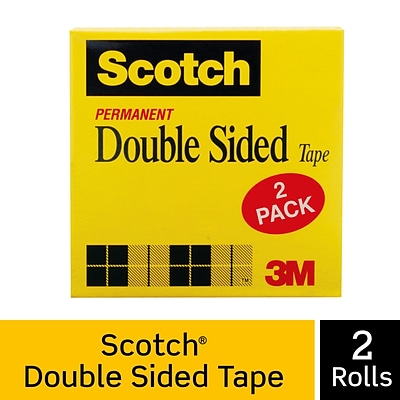 Scotch® Double Sided Tape, 3/4 x 1296, 2 Boxes/Pack (665-2P34-36)