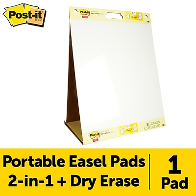 Post-it® Tabletop Easel Pad with Dry Erase, 20 x 23, White, Unruled, 1/Pack (563 DE)