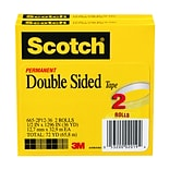 Scotch® 1/2x1296 Double-Sided Tape; 2/Pack