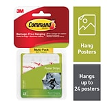 Command™ Poster Strips Value Pack, White, 48 Strips (17024-VP)