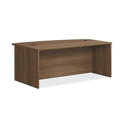 HON Foundation Desk Shell, Bow Top, 72W x 42D, Pinnacle Finish (HONLM7242PNC)