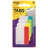 Post-it® Tabs, 2 Wide, Assorted Colors, 24 Tabs/Pack (686-ALYR)
