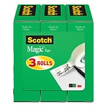 Scotch® Magic™ Tape 810, 3/4 x 800 in, 3/Pack