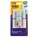 Post-it® Durable Tabs, 1 & 2, Assorted Colors, 114 Tabs/Pack (686VAD1)