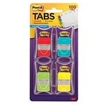 Post-it® Durable File Tabs, Solid Assorted Colors, 1 x 1 1/2, 100/Pk (686RALY)