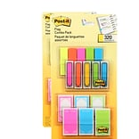 Post-it® Flags Combo Pack, 1/2 Wide and 1 Wide, Assorted Colors, 320 Flags/Pack (683-XLS)