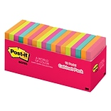 Post-it® Notes, 3 x 3 Cape Town Collection, 100 Sheets/Pad, 18 Pads/Cabinet Pack (654-18CTCP)