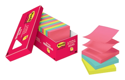"Post-it® Pop-up Notes, 3"" x 3"" Cape Town Collection, 18 Pads/Cabinet Pack (R330-18CTCP)"