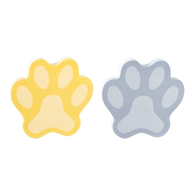 Post-it® Super Sticky Notes, 3 x 3, Assorted Colors, Pawprint-Shaped, 2 Pads/Pack (2050-PAWPRT-MX)