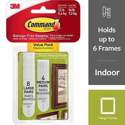 3M™ Command™ Medium and Large Picture Hanging Adhesive Strip (17209-ES)