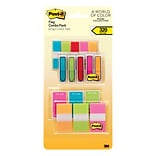 Post-it® 1/2 and 1 Flags, Miami Collection Combo Pack, 320 Flags/in Four On-The-Go Dispensers (683