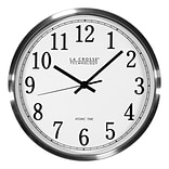La Crosse Technology 12 Inch Atomic Analog Wall Clock, Aluminum (WT-3126B)