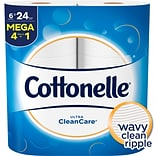 Cottonelle Ultra CleanCare Toilet Paper, Strong Bath Tissue, 6 Mega Rolls (47747)