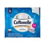 Cottonelle Ultra CleanCare Toilet Paper, Strong Bath Tissue, 18 Double Rolls (47764)