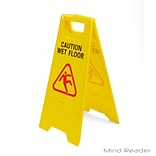 Mind Reader Caution Floor Warning Sign