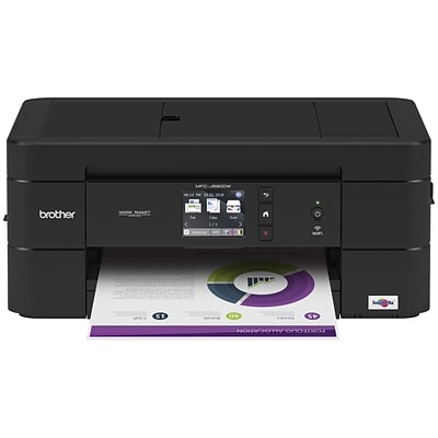 Brother MFC-J690DW Compact, Wireless Color Inkjet All-in-One Printer with Auto Document Feeder, and Mobile Device